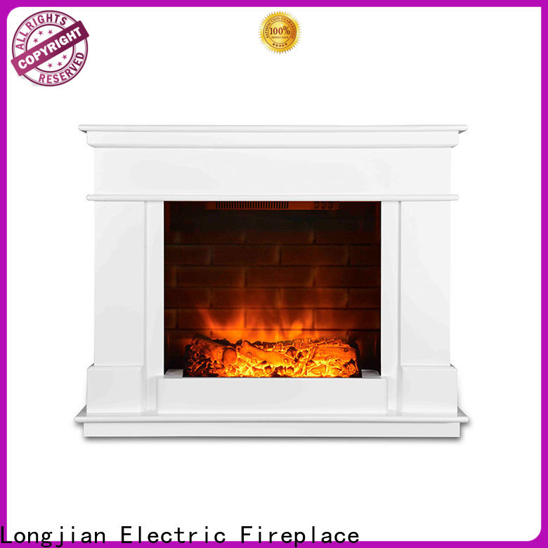 Longjian customized electric fireplace suites package for balcony