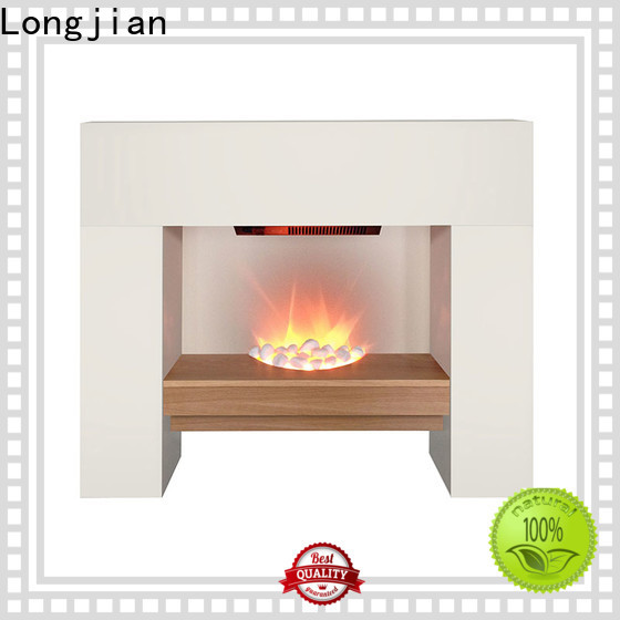 Longjian flame electric fireplace suites effectively for balcony