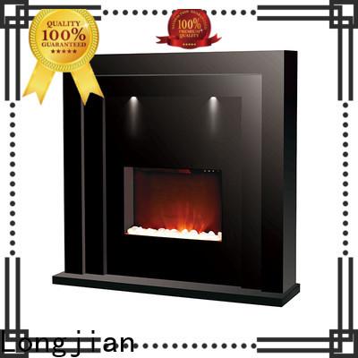Longjian customized electric fireplace suites freestanding package for garden