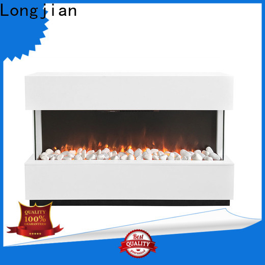 Longjian wood electric fireplace suites effectively for hall