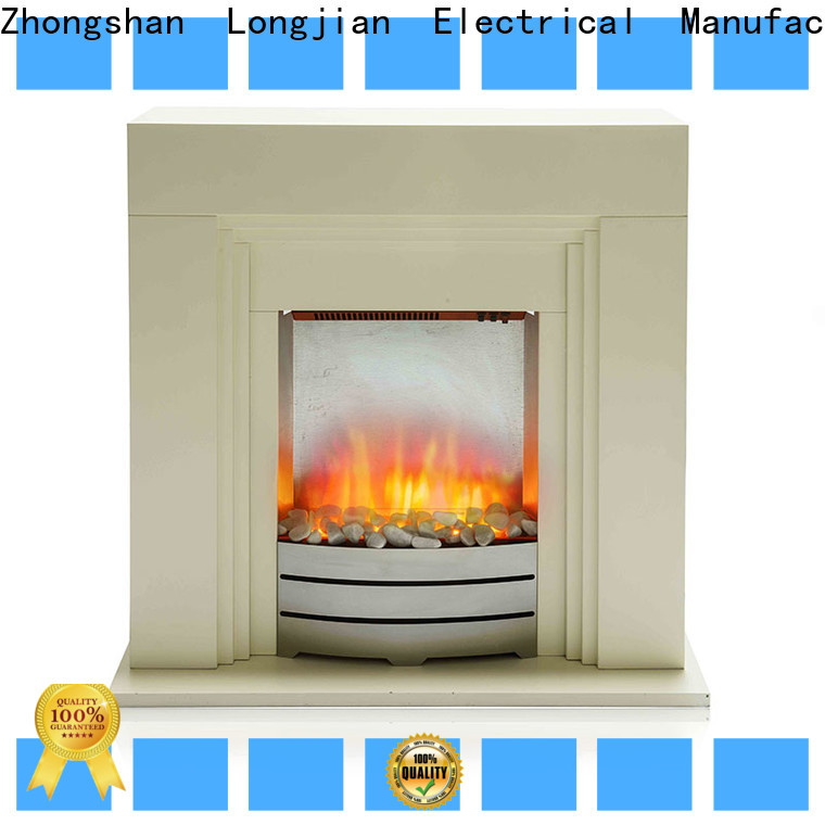 Longjian effect electric fireplace suites freestanding effectively for hall