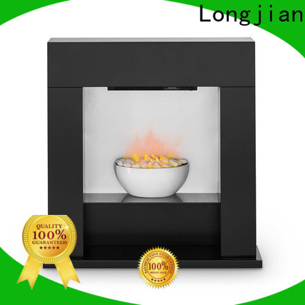 Longjian safety electric fireplace suites led-lamp for balcony