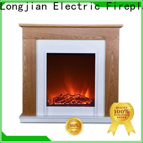Longjian elegant electric fireplace suites for-sale for garden