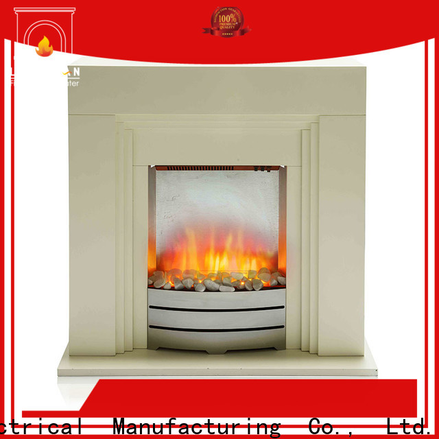 Longjian first-rate freestanding electric fire suite for-sale for balcony