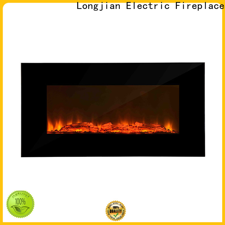 Longjian luxury wall mount electric fireplace production for bedroom