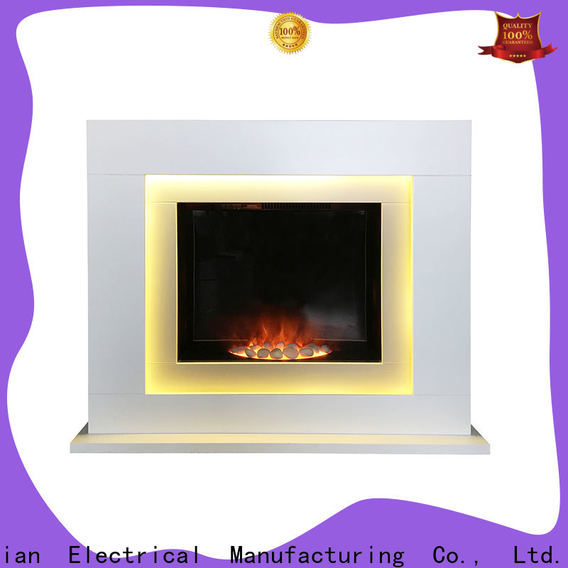 Longjian inexpensive electric fireplace suites in-green for garden