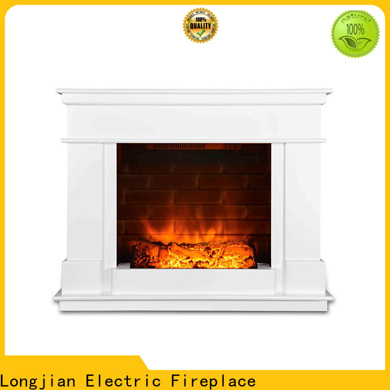 Longjian decorative electric fireplace suites freestanding package for manager room