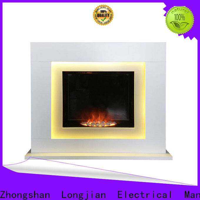 Longjian good-package freestanding electric fire suite China for manager room