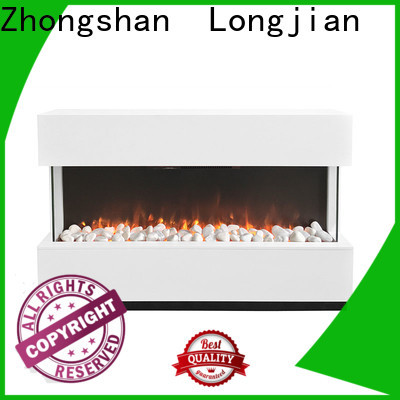 Longjian first-rate electric fireplace suites freestanding in-green for hall