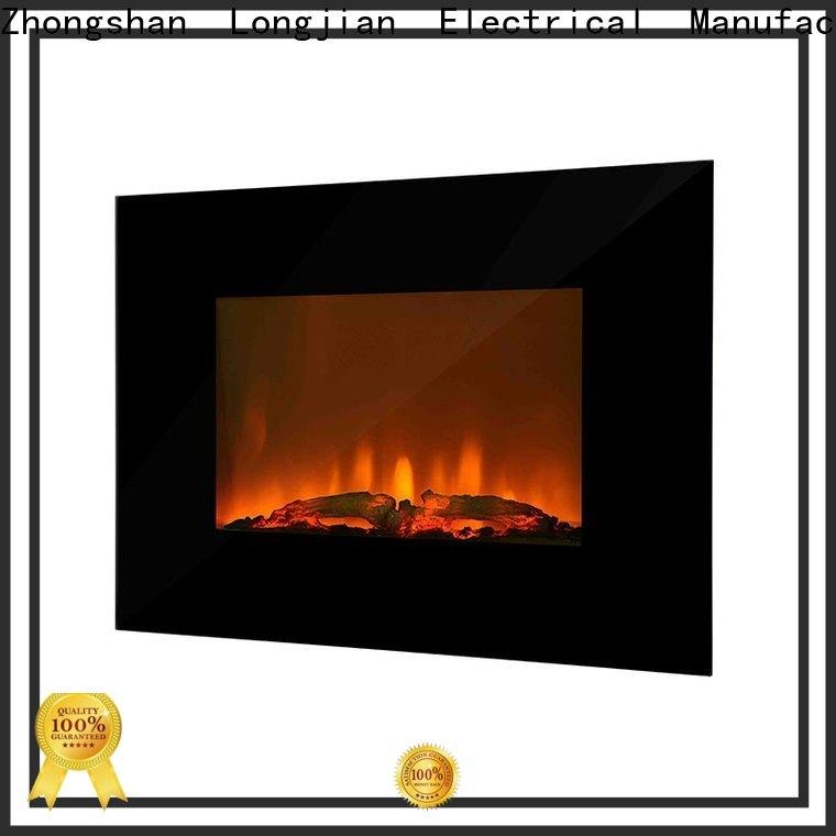 Longjian modern wall mount electric fireplace heater widely-use for riverwalk