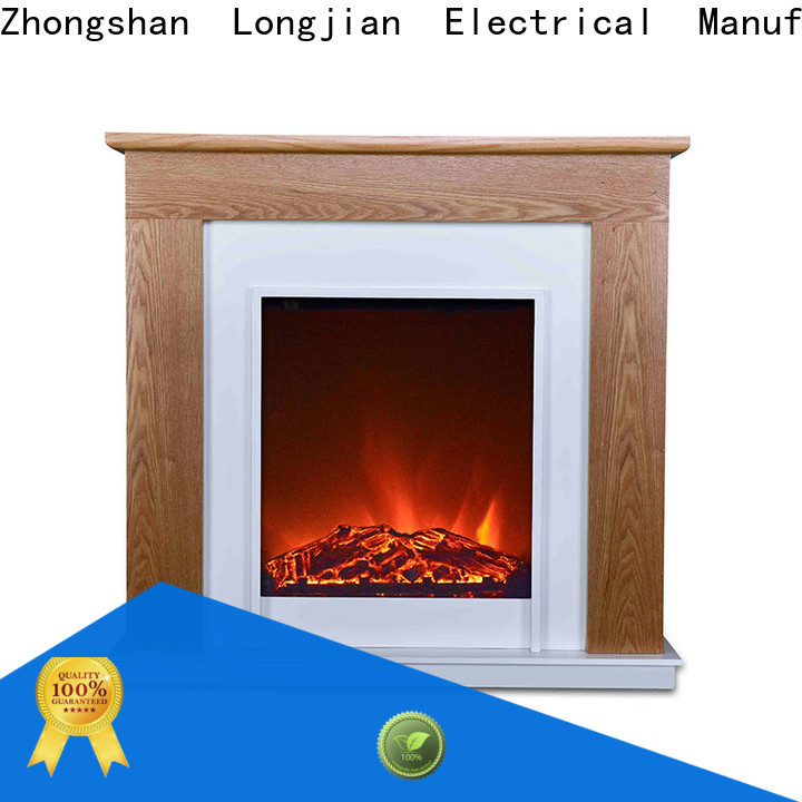 Longjian simple-style freestanding electric fire suite for-sale for balcony