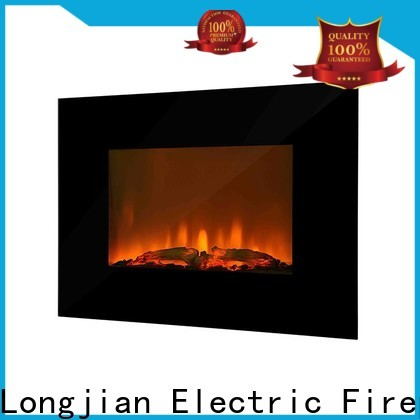 Longjian led electric wall fireplace protection for balcony