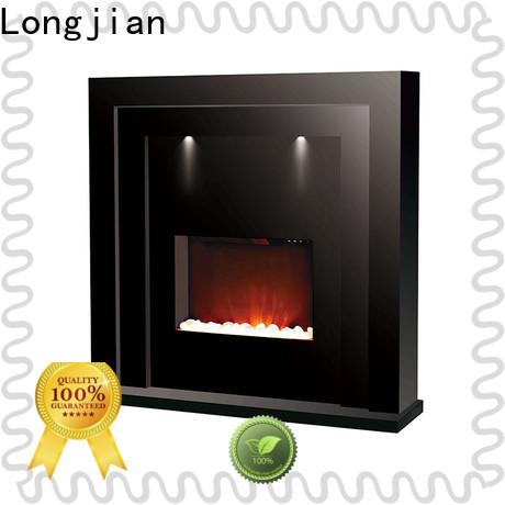 Longjian light electric fireplace suites freestanding long-term-use for balcony