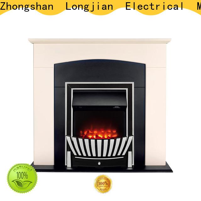 Longjian electric insert electric fireplace China for garden