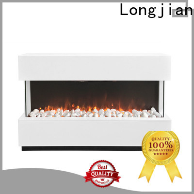 Longjian elegant electric fireplace suites package for manager room