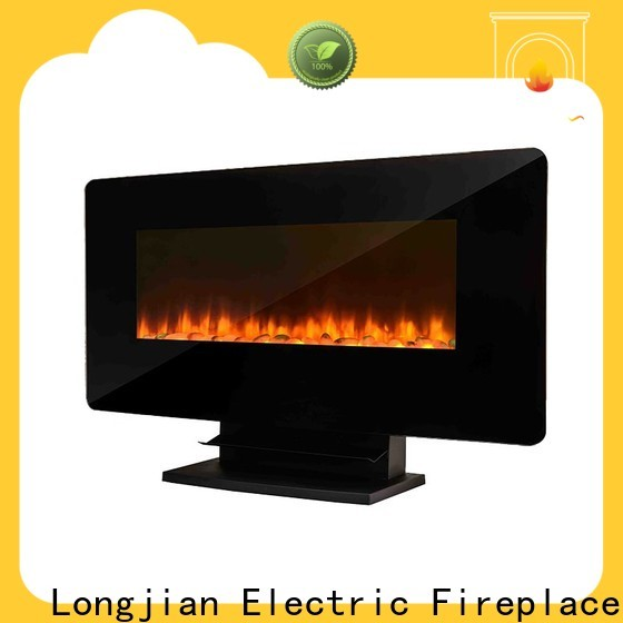 Longjian european wall mount electric fireplace widely-use for riverwalk