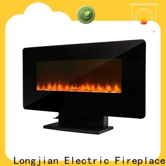 Longjian european wall mount electric fireplace widely-use for riverwalk