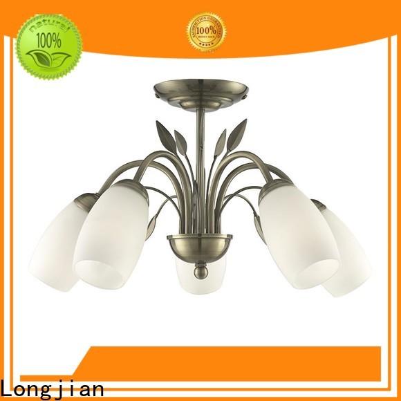 Longjian white semi flush mount ceiling light equipment for rooftop