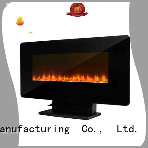 Longjian luxury wall mount electric fireplace heater anticipation for balcony