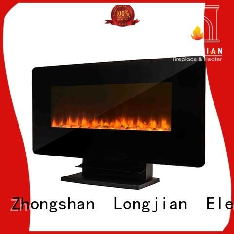Longjian wall best wall mounted fireplace production for rooftop