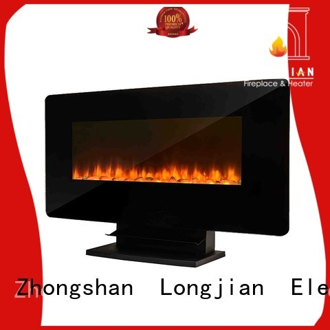 Longjian wall best wall mounted fireplace production for rooftop