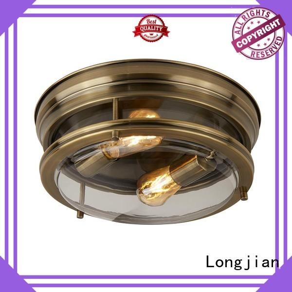 Longjian opal flush mount ceiling light Application for riverwalk