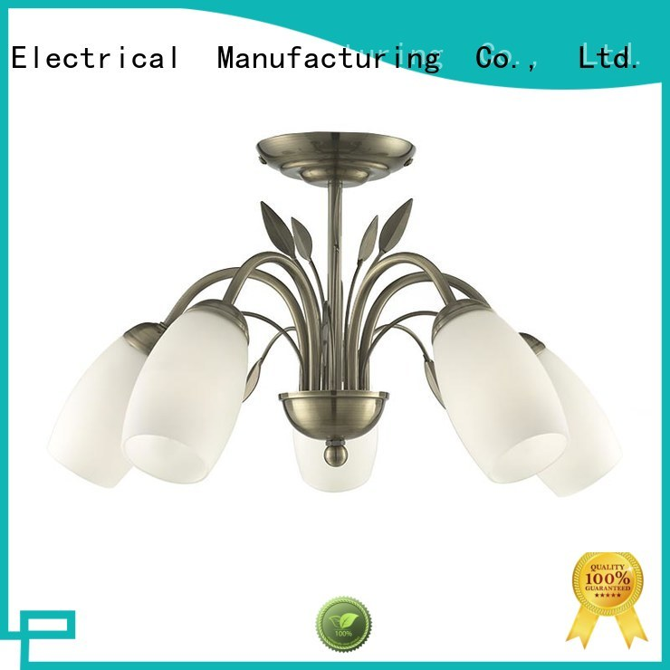 Longjian distinguished semi flush mount lighting in-green for rooftop