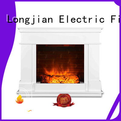 1000W Modern Large Freestanding Safety Electric Fireplace With Artificial Flame Effect