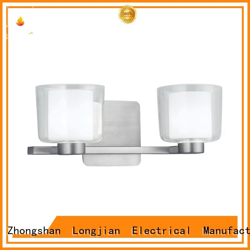 2 light Wall lamps Vanity bath Sconce with Clear Glass shade ip44 BW1906002-2