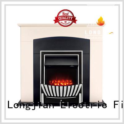 Longjian temperature insert electric fireplace in-green for kitchen