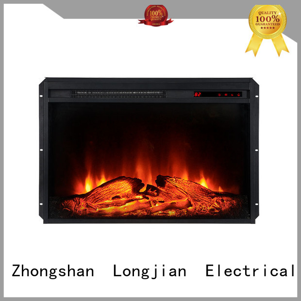 Longjian style insert electric fires in-green for balcony