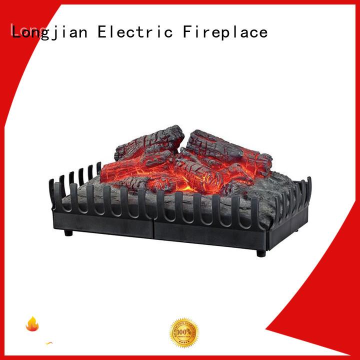 Longjian adjustable insert electric fireplace led-lamp for garden
