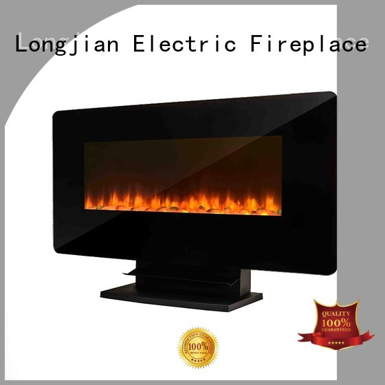 Longjian fine- quality electric wall fireplace conjunction for rooftop