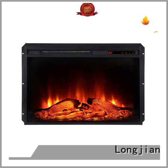 Longjian unique insert electric fireplace package for bedroom