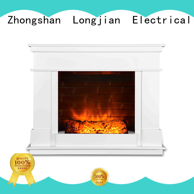Longjian small electric fireplace suites for-sale for kitchen